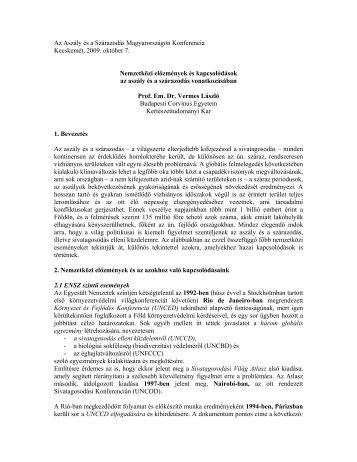 Nemzetközi előzmények és kapcsolódások az - VAHAVA Hálózat