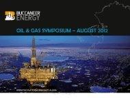 OIL & GAS SYMPOSIUM – AUGUST 2012 - Thewebconsole.com