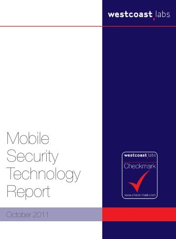 Mobile Security Technology Report - West Coast Labs