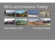RECs and Emissions Trading - Innovative Design