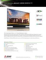 742 SERIES   3D DLP® HOME CINEMA TV - Mitsubishi