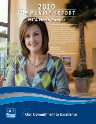 COMMUNITY REPORT - HCA North Florida