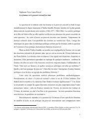 1 Stéphanie Tawa Lama-Rewal Les femmes et le pouvoir exécutif ...