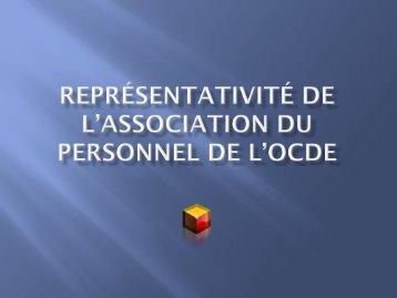 Représentativité de l'Association du personnel de l'OCDE