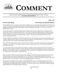 COMMENT - Unitarian Universalist Congregation of Danbury