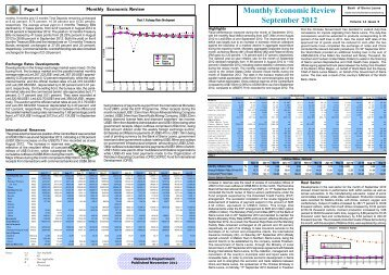 Monthly Economic Review September 2012 - Bank of Sierra Leone