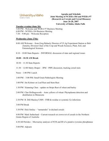 Agenda and Schedule Joint Meeting of NCERA-184 and WERA-97 ...