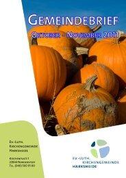 gemeindebrief oktober - november 2011 - Kirche Harksheide