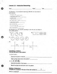 Lesson 2.1 - Inductive Reasoning - Spokane Public Schools