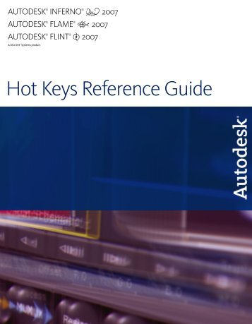 Hot Keys Reference Guide - Autodesk