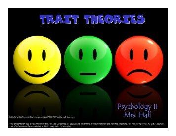 TRAIT THEORIES - Mona Shores Blogs