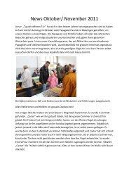 Monatsrapport Oktober/November 11 - Auffangstation für Papageien ...