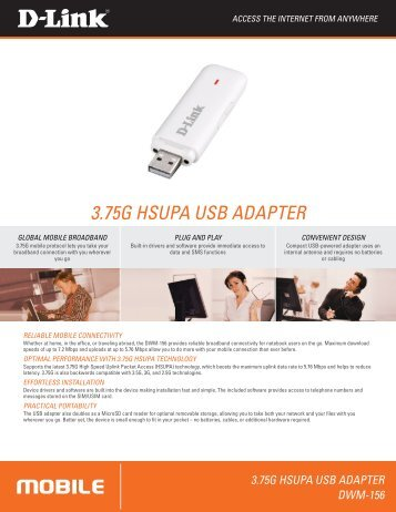 3.75G HSUPA USB ADAPTER - D-Link