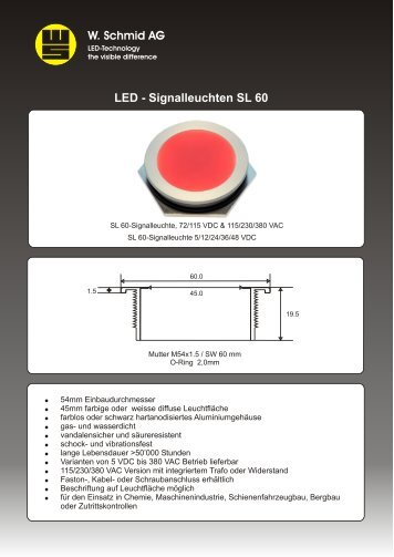 PDF-Datenblatt hier herunterladen - LED