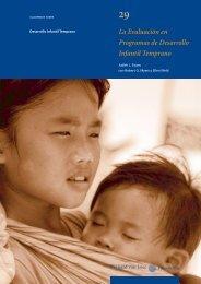 La Evaluación en Programas de Desarrollo Infantil Temprano
