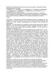 Hypertension artérielle pulmonaire au cours de la sarcoïdose - SPLF