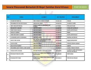 Port Dickson - Jabatan Hal Ehwal Agama Islam Negeri Sembilan