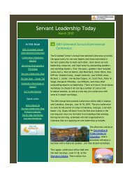 Servant Leadership Today - Pastoral Institute