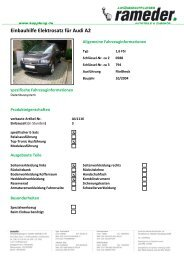 Einbauhilfe Elektrosatz für Audi A2
