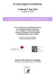 « DOULEURS ET DÉMENCES » - CNRD