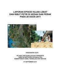 Laporan kejadian hujan lebat yang menyebabkan banjir di Perak ...