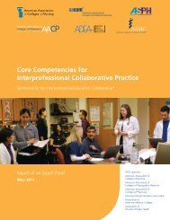 Core Competencies for Interprofessional Collaborative Practice