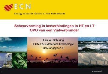 """Lezing Erik Schuring """"Warmtewisselaar - VeMet"""
