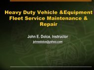 Heavy Duty Vehicle & Equipment Fleet Service Maintenance ... - Narsa