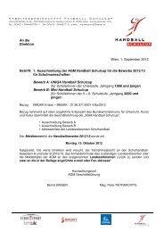 Ausschreibung und Kontakt AGM Schulhandball 2012-13