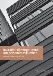 Invitation til morgenmøde om persondatasikkerhed - Plesner