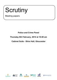 Public reports pack 06th-Feb-2014 10.00 Police and Crime Panel