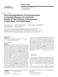Promoting Mindfulness in Psychotherapists in Training Influences ...