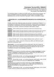 Orientação Técnica EFD - nº 006/2011 - Secretaria de Estado da ...