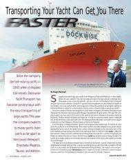 Dockwalk article, August 2004 - Dockwise Yacht Transport