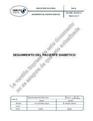 SEGUIMIENTO DEL PACIENTE DIABETICO - osecac