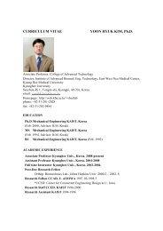 CURRICULUM VITAE YOON HYUK KIM, Ph.D.