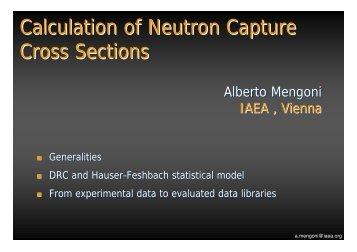 Calculation of Neutron Capture Cross Sections - efnudat