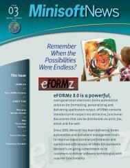 2012 Spring/ Summer Newsletter - Minisoft