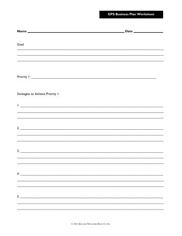 Business Plan Worksheet 1 Describe The Business Donna Partow