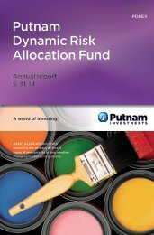 Dynamic Risk Asset Allocation: Annual Report - Putnam Investments