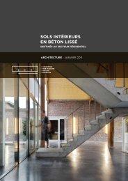 sols intérieurs en béton lissé (architecture 3) - Febelcem