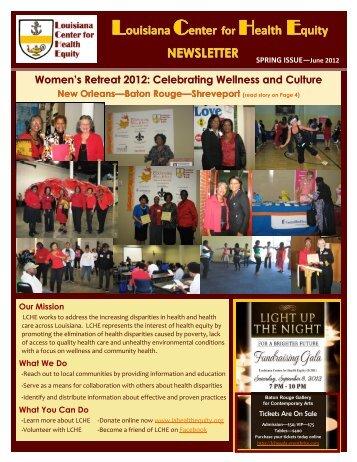 2012 Spring Newsletter - Louisiana Center for Health Equity