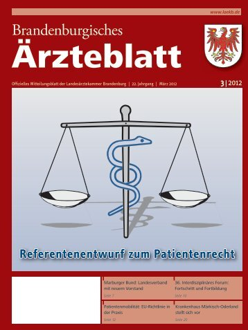Brandenburgisches Ärzteblatt 3/2012 - qs- nrw