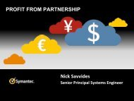 Symantec Profit from Partnership - Parallels