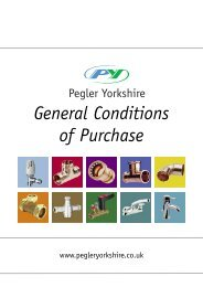 General Conditions of Purchase - Pegler Yorkshire