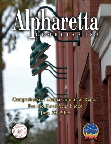 CITY OF ALPHARETTA COMPREHENSIVE ANNUAL FINANCIAL ...