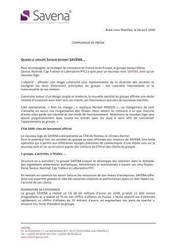 Dena, Saveur, Nutrinal, Cap Traiteur et Laboratoire PYC - CCI Rennes