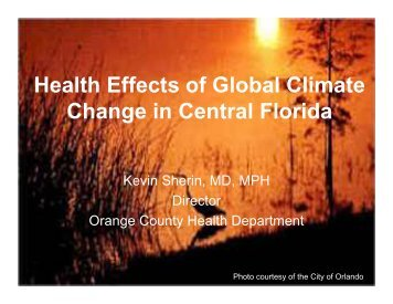 Health Effects of Global Climate Change in Central Florida