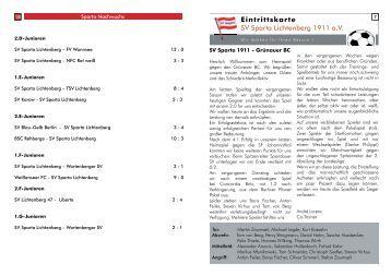 Grünauer BC ( 07.Oktober 2012 / 1.4 MB ) - SV Sparta Lichtenberg ...