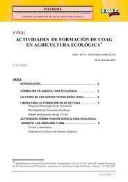 actividades de formación de coag en agricultura ecológica
